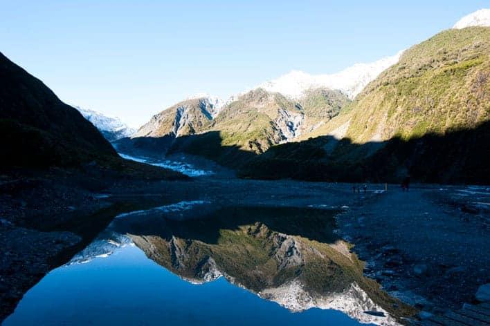 Cabeça do glaciar Fox, Nova Zelândia