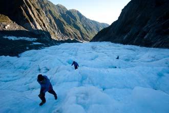 Trekking no glaciar Franz Josef