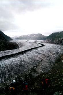 Vista do Glaciar Jungfrau-Aletsch, Suíça