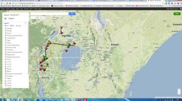 Skipuleggja ferð: Google kort