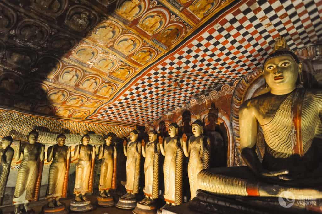 Arte sacra em Dambulla