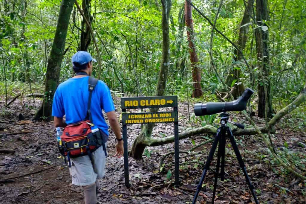 Carlos, guia naturalista na visita ao Parque Nacional Corcovado