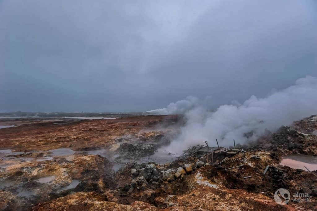 Skripts Islandē: Gunnuhver, Reykjanes pussala
