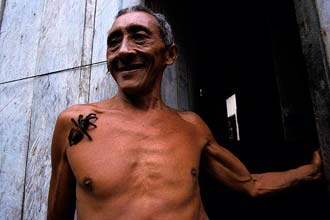 Ladí de Sá Rodrigues og gæludýr tarantula hans