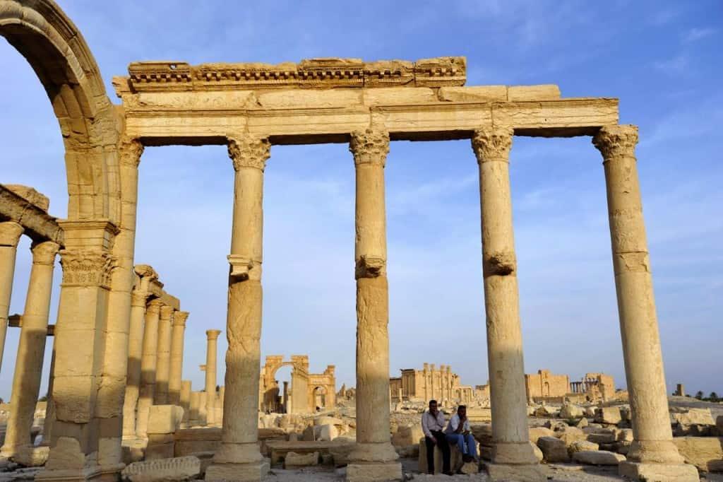 Habitantes de Tadmur, a antiga Palmira