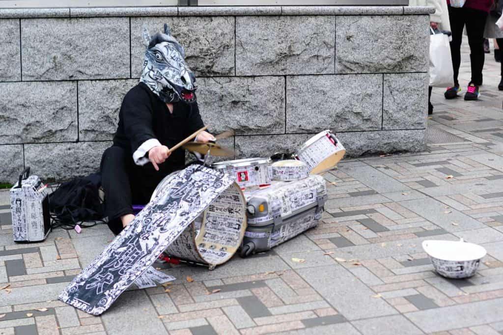 Personagem na rua Takeshita, Harajuku