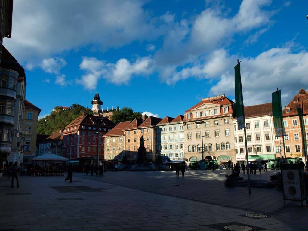 Hauptplatz, centro histórico de Graz