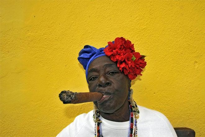 Posando para a máquina fotográfica, Havana