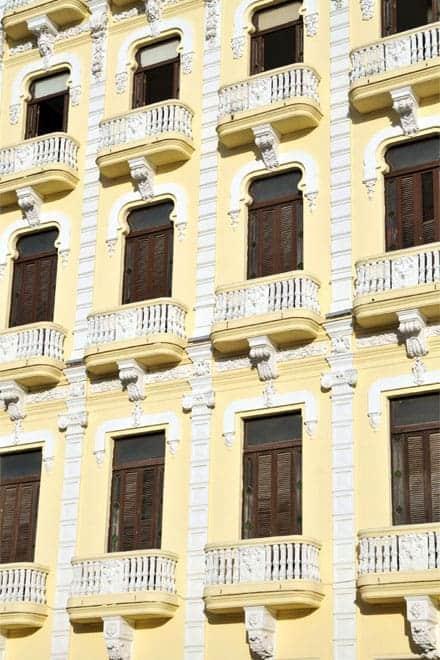 Pormenor da arquitetura colonial de Havana