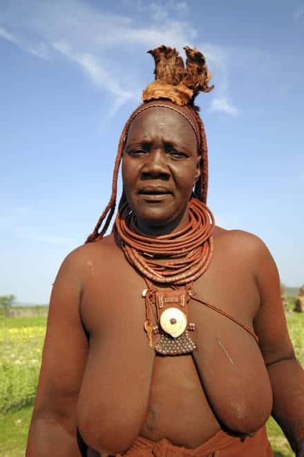 Vrouw Himba, Namibië