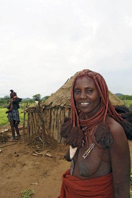 Sympathie en gastvrijheid Himba, Noordwest Namibië