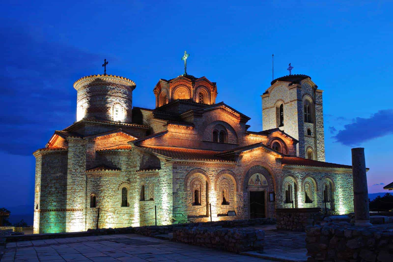 Kirkja við vatn Ohrid, Makedóníu