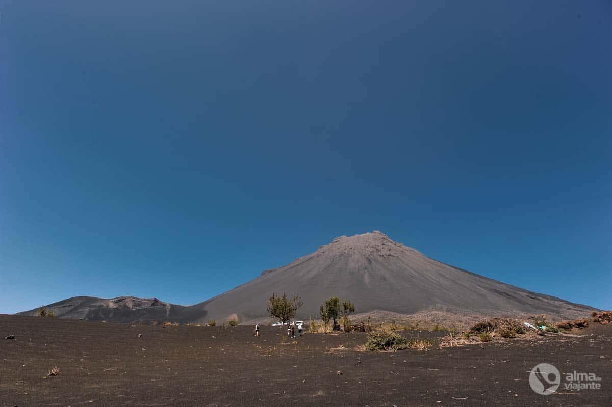 Vulcão na Ilha do Fogo