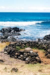 O umbigo do mundo em Rapa Nui, Chile