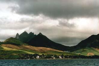 Cores do entardecer nas ilhas Maurícias