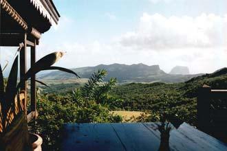 Restaurante com vista para as montanhas das Maurícias