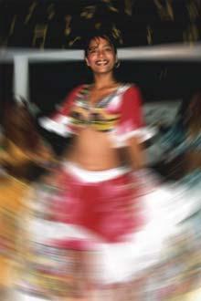 Dançando Séga num espectáculo para turistas