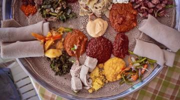 Injera e outras iguarias da Etiópia