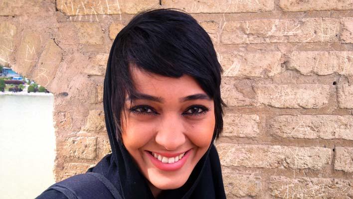 Jauna Irānas sieviete Esfahānā