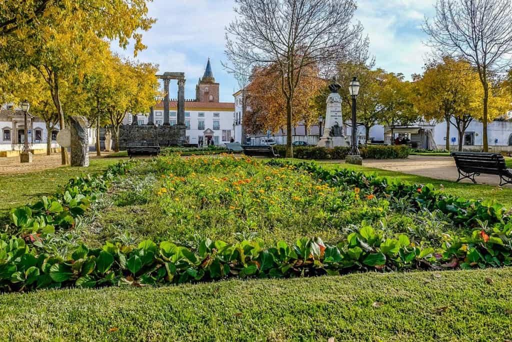 O que fazer em Évora: visitar os Jardins de Diana