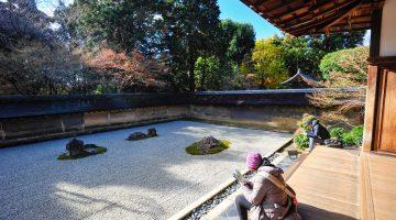 Ryoan-ji, o mais emblemático dos jardins zen de Kyoto