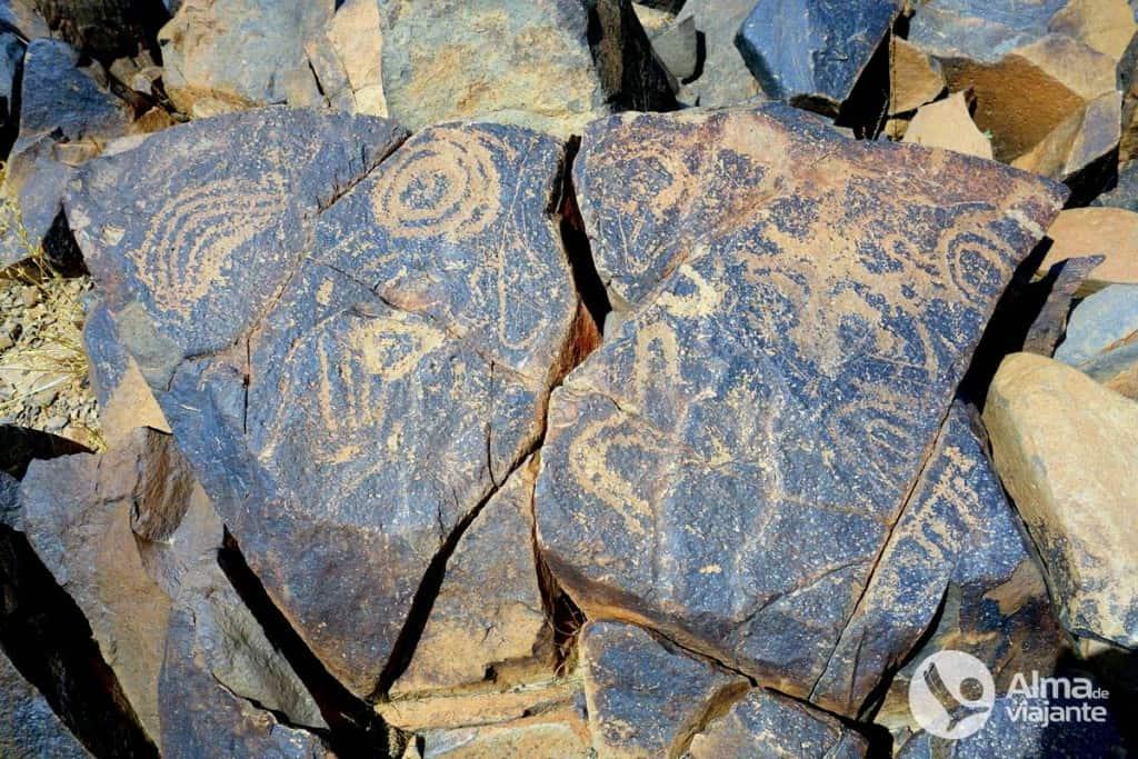 I rupestres di Gravuras fanno Jbel Adad