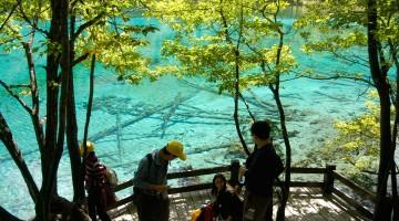 Jiuzhaigou Natural Park, Sichuan, Kína