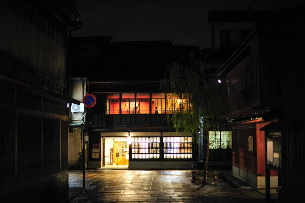 O que fazer em Kanazawa. Bairro Higashi Chaya