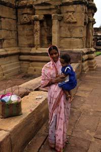 Temple í Aihole, Karnataka