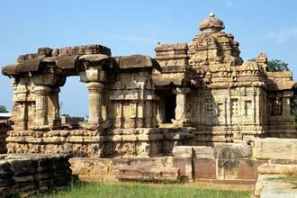 UNESCO varið musteri í Pattadakal, Indlandi