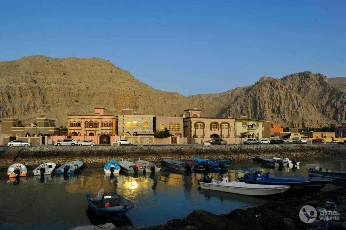 O que fazer em Khasab: entardecer junto ao porto
