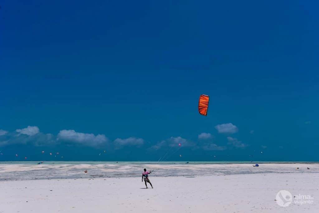Kite surfing v Zanzibar (Paje)