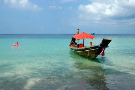 Praia em Koh Tao, Tailândia