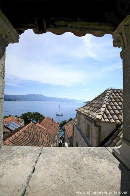Vista a partir da casa de Marco Polo, Korcula