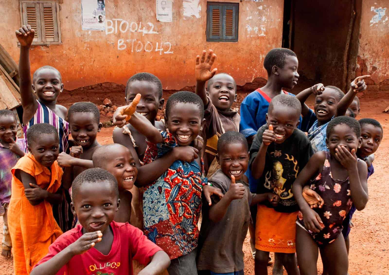 Crianças em Kumasi, Gana