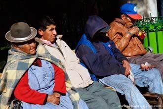 Bolivianos em La Paz