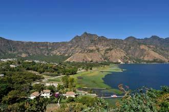 A beleza do lago Atitlán é esmagadora