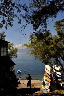 Lago de Atitlán visto a partir de San Marcos La Laguna