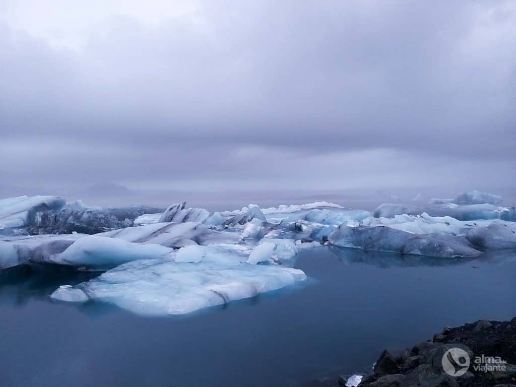 Fotografar com telemóvel: Lago Jökulsárlón