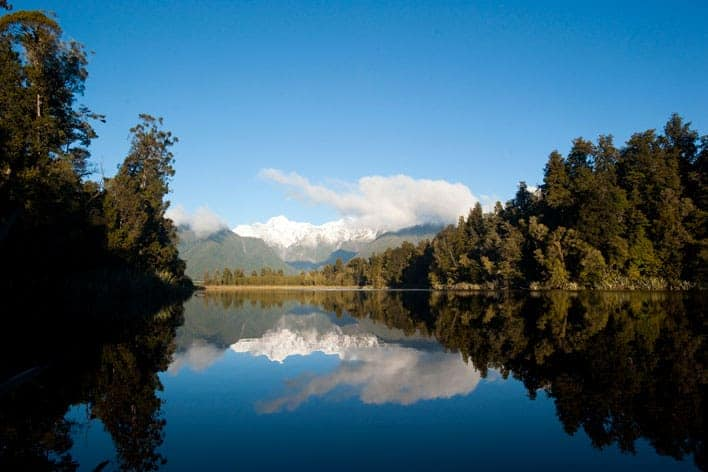 Lago Matheson, próximo de Fox