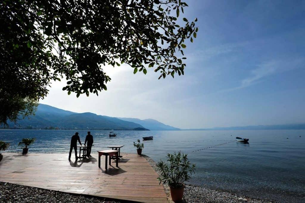 Restaurante em Ohrid