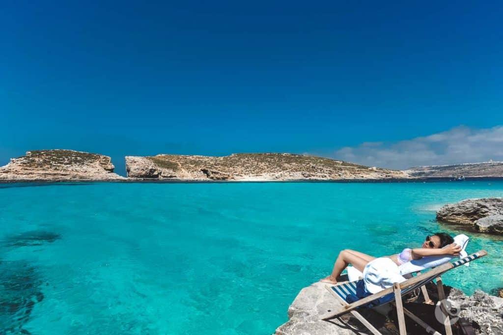 Praias de Malta: Lagoa Azul, Comino