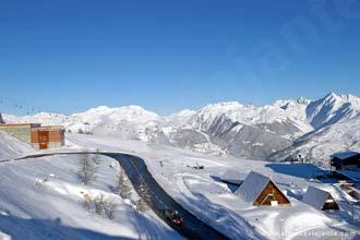 Estância de Inverno em Aime-La Plagne, Alpes Franceses