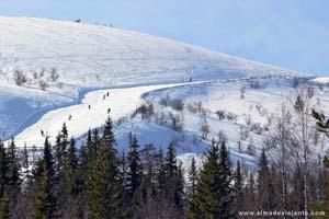Pista de esqui em Levi, Lapónia