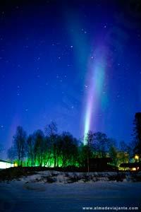 As auroras bureais são uma das atracções do Inverno na Lapónia