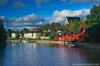 Vista de Porvoo, Finlândia
