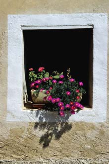 Janela em Lourmarin, França