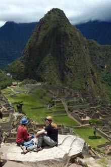 Ferðamenn í Machu Picchu, Perú