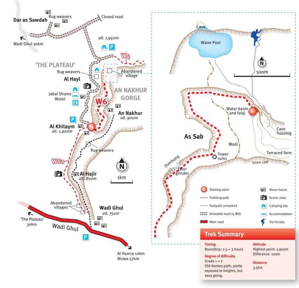 Mapa Balkony Walk