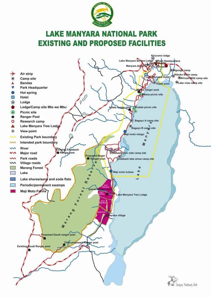 Mapa do Manyara